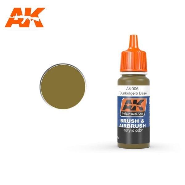 AK006 Dunkelgelb base AK-Interactive