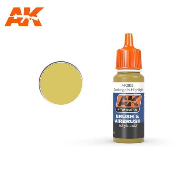 AK008 Dunkelgelb high light AK-Interactive