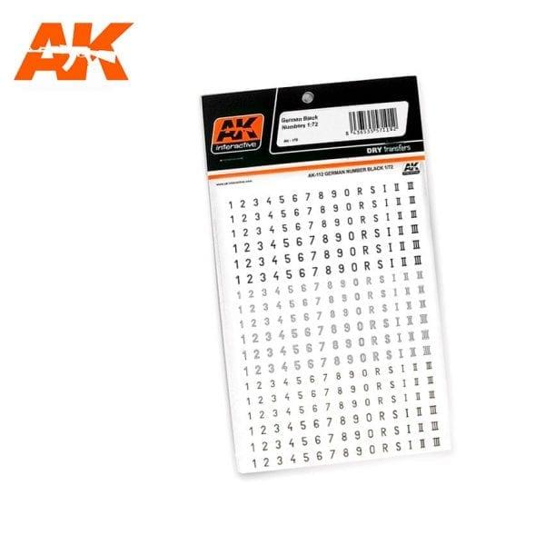 AK1122 German Black Numbers 1:72 1