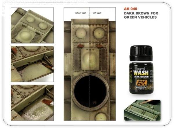 AK045 Dark Brown for green vehicles