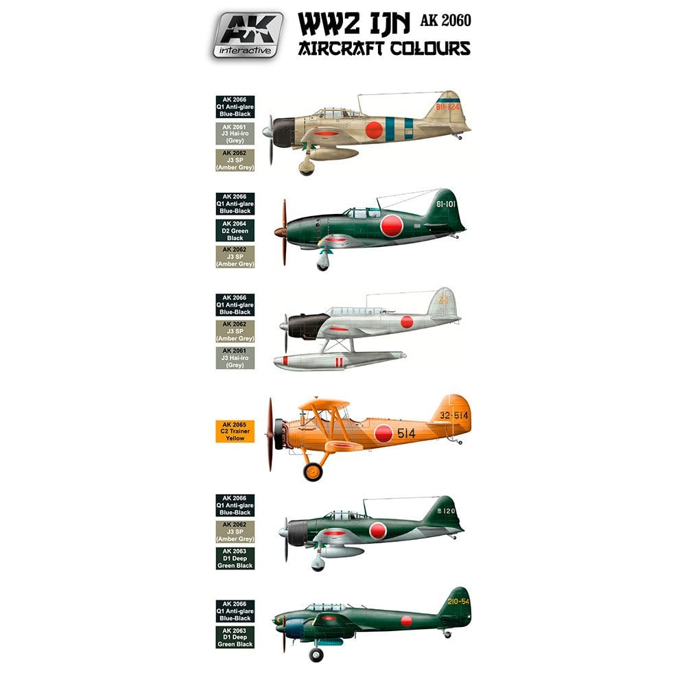Buy ww2 ijn aircraft colours online for 18.40€ | AK Interactive