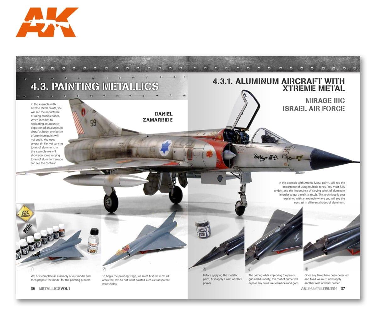 Ak Interactive Book Ak Learning 4 Metallics Vol 1 # 507