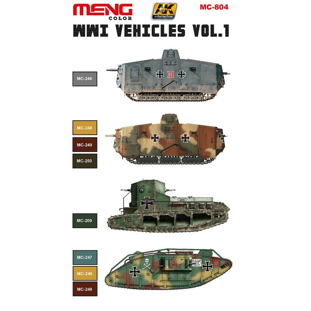 WWI Vehicles camouflage colors vol  1