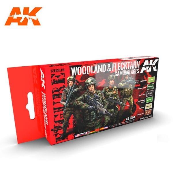 AK3250 acrylic paint set akinteractive modeling