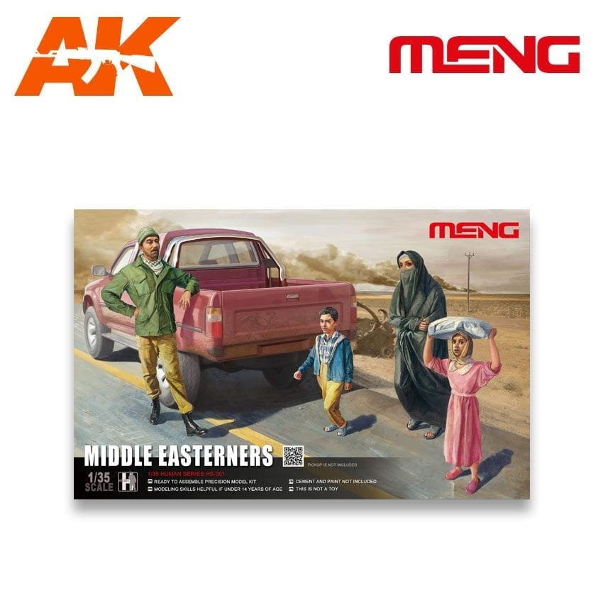 MENG MODEL HS-001 Middle Easterners 4 Figuren in 1:35
