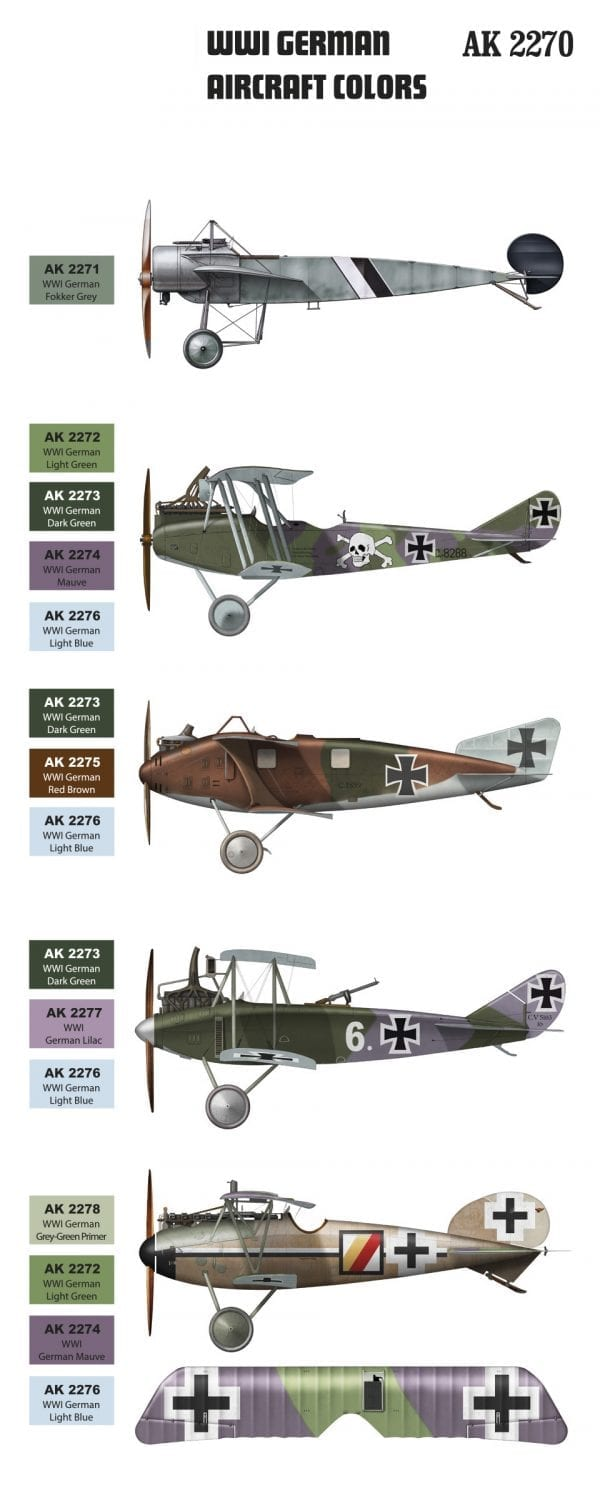 AK 2270 WW1 GERMAN AIRCRAFT COLOURS 2018