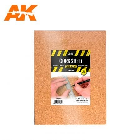 AK8048 CORK SHEET (2X3mm) fine WEB