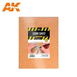 AK8049 CORK SHEET (1x1-2-3mm) fine WEB