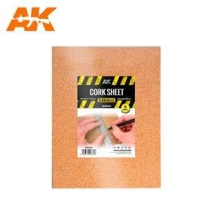 AK8052 CORK SHEET (1x6mm) fine WEB