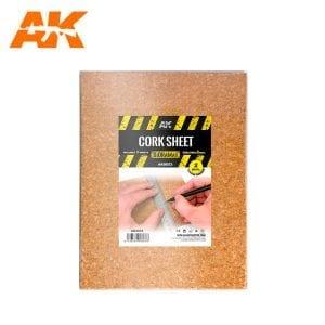 AK8053 CORK SHEET (2x2mm) coarse WEB