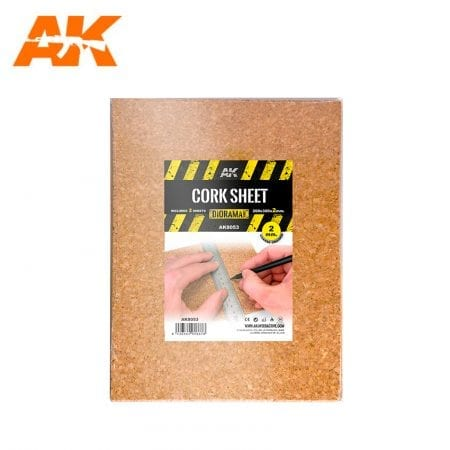 AK8053 CORK SHEET (2x2mm) coarse WEB