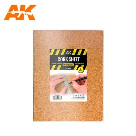 AK8054 CORK SHEET (2x3mm) coarse WEB