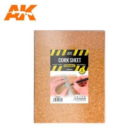 AK8055 CORK SHEET (1x6mm) coarse WEB