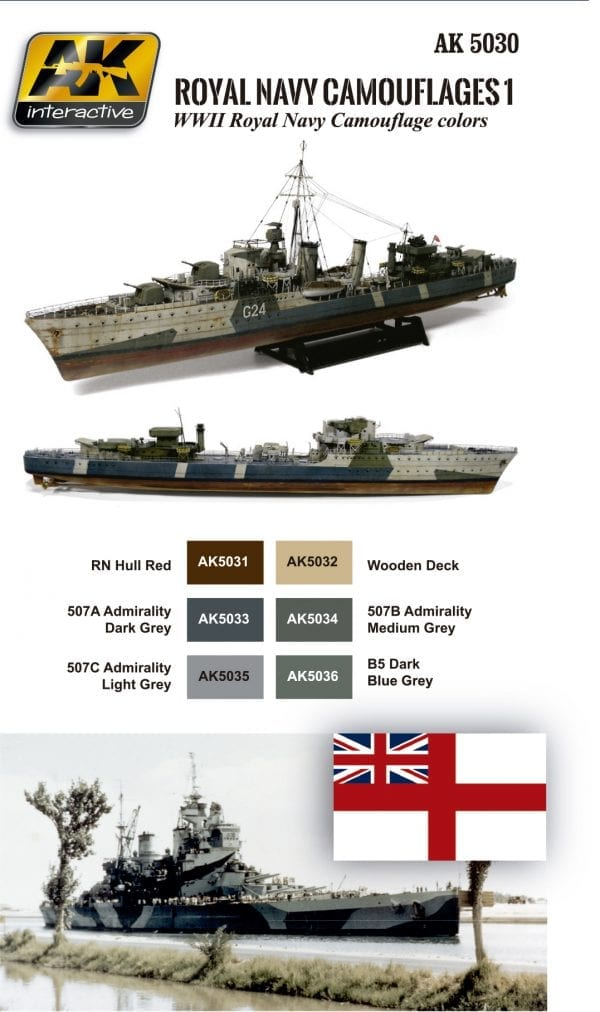AK 5030 Royal Navy Camouflages SET 1