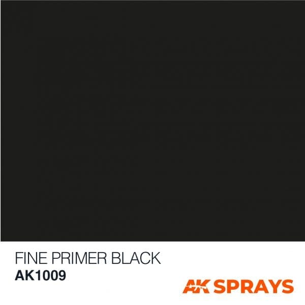 AK1009 COLOR spray ak-interactive FINE PRIMER BLACK SPRAY