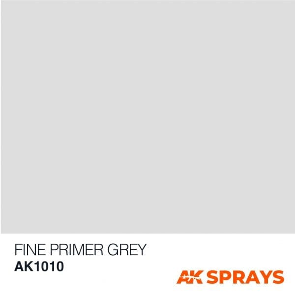 AK1010 COLOR spray ak-interactive FINE PRIMER GREY SPRAY