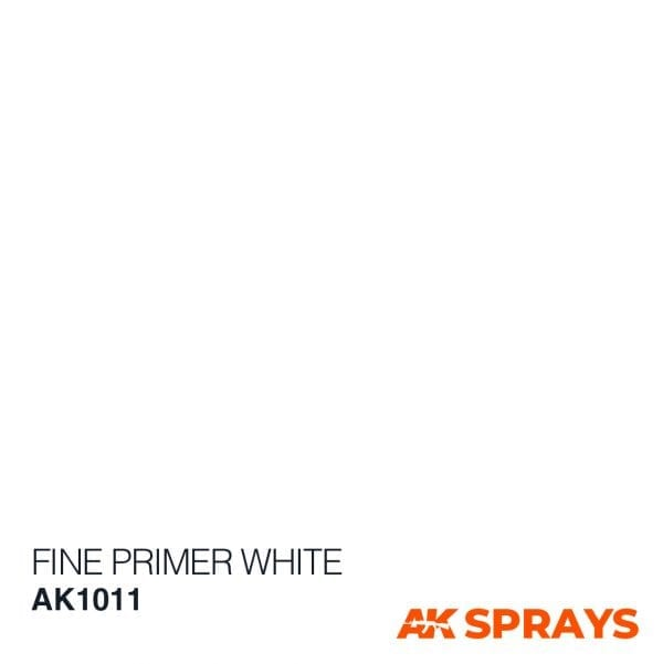 AK1011 COLOR spray ak-interactive FINE PRIMER WHITE SPRAY