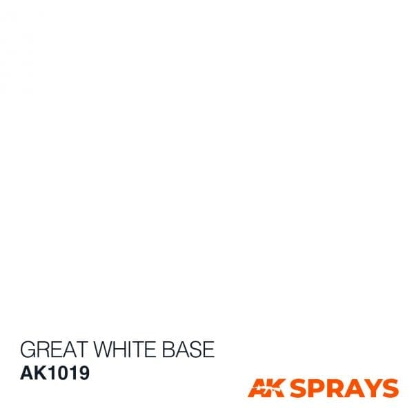 AK1019 COLOR spray ak-interactive GREAT WHITE BASE SPRAY