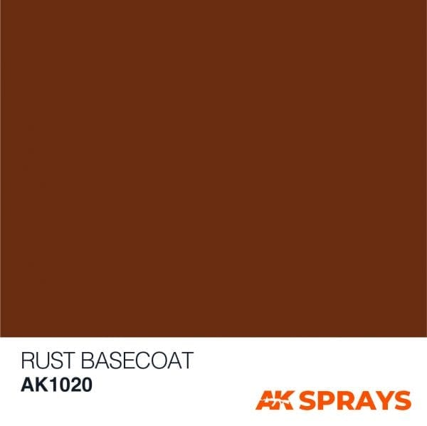 AK1020 COLOR ak-interactive spray RUST BASECOAT SPRAY