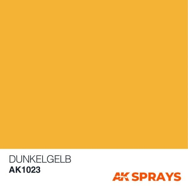 AK1023 COLOR spray ak-interactive DUNKELGELB SPRAY