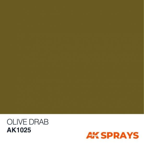 AK1025 COLOR spray ak-interactive OLIVE DRAB COLOR SPRAY
