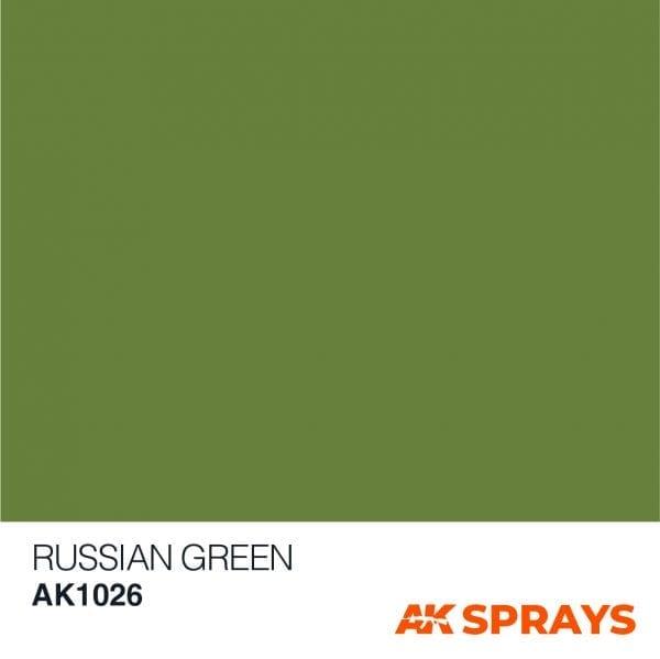 AK1026 COLOR spray ak-interactive RUSSIAN GREEN COLOR SPRAY