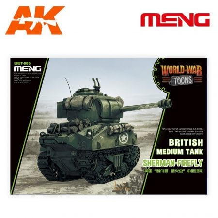MM WWT-008 world war toons british medium tank sherman firefly ak-interactive meng