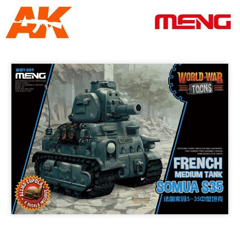 MM WWT-009 french toons world war sumoa s35 ak-interactive meng