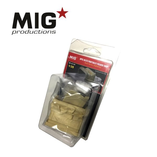 MP35-178 MIGPRODUCTIONS AK-INTERACTIVE OPEL BLITZ PARTIALLY FOLDED TARP