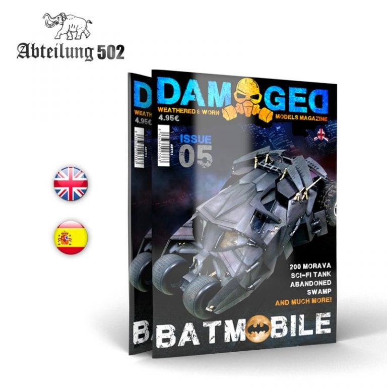 DAMAGED MAGAZINE 05 BATMOBILE BATMAN AK-INTERACTIVE ABTEILUNG502