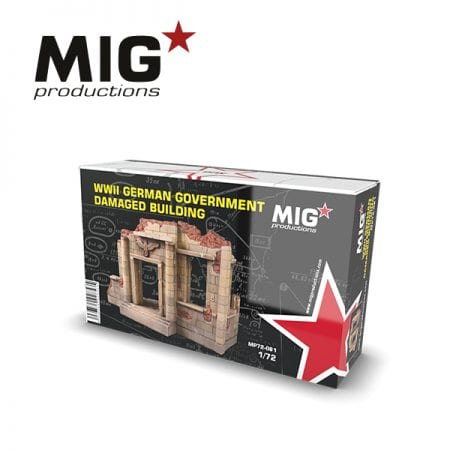 MP72-081 GERMAN DAMAGED BUILDING ak-interactive migproductions