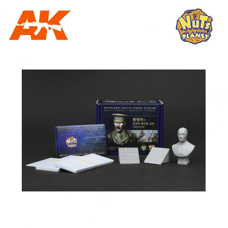 NP-T002 FIGURE PAINTING TUTORIAL FULL SET AK-INTERACTIVE NUTS PLANET