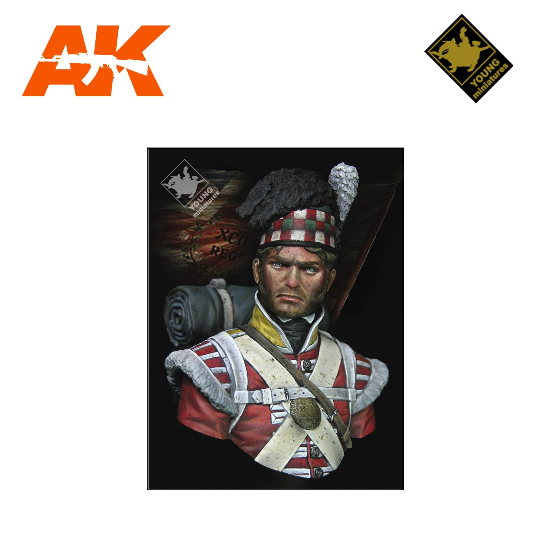 YM YH1826 THE 92ND GORDON HIGHLANDERS WATERLOO 1815 AK-INTERACTIVE YOUNG MINIATURES