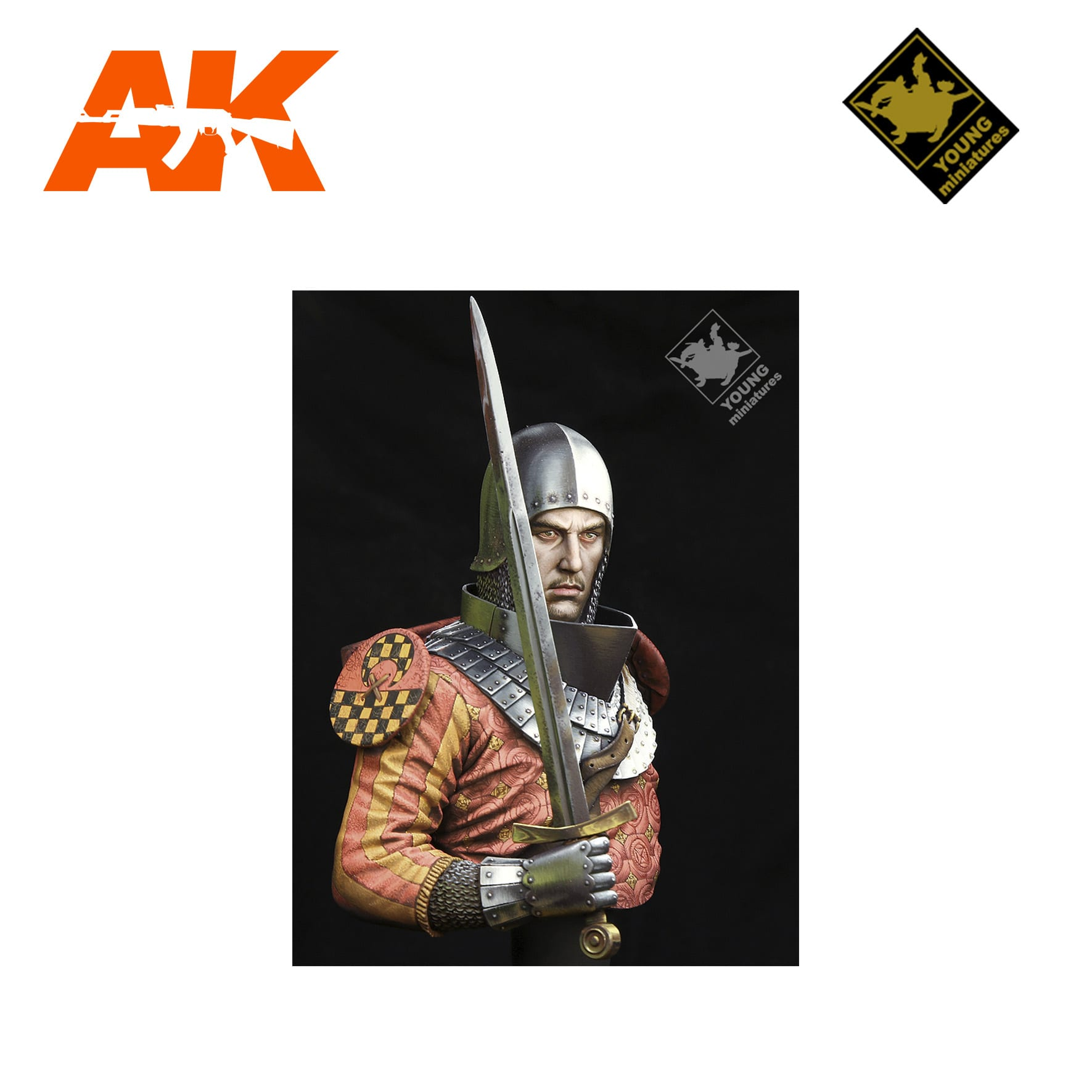 YM YH1853 MEDIEVAL KNIGHT 14TH CENTURY AK-INTERACTIVE YOUNG MINIATURES
