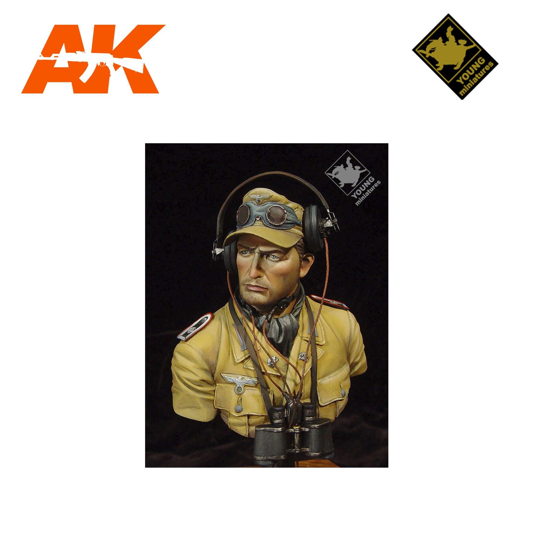 YM YM1802 DAK PANZER OFFICER AK-INTERACTIVE YOUNG MINIATURES