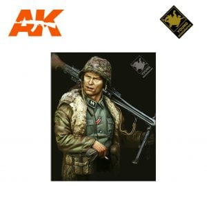 YM YM1822 WAFFEN SS MG-42 GUNNER ARDENNES 1944 AK-INTERACTIVE YOUNG MINIATURES