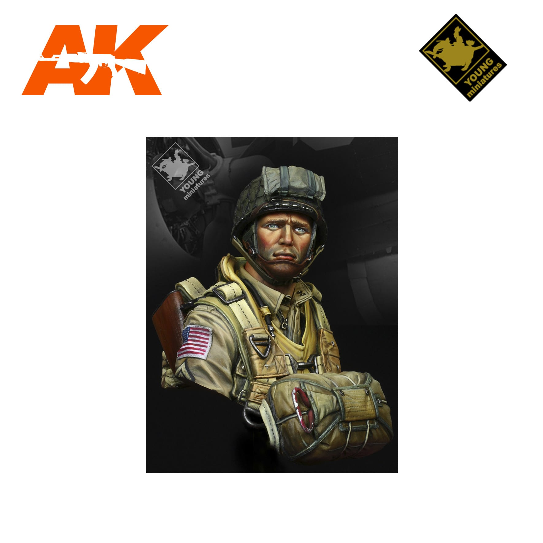 YM YM1824 US PARATROOPERS 82ND AIRBORNE NORMANDY 1944 AK-INTERACTIVE YOUNG MINIATURES