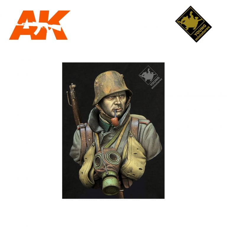 YM YM1857 GERMAN STORMTROOPER WWII AK-INTERACTIVE YOUNG MINIATURES