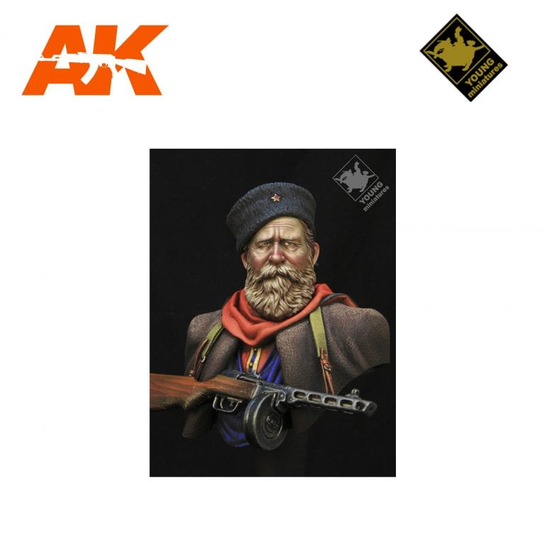 YM YM1858 RUSSIAN COSSACK WWII AK-INTERACTIVE YOUNG MINIATURES