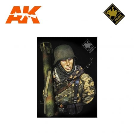 YM YM1865 GERMAN WAFFEN SS WITH PANZERSCHRECK AK-INTERACTIVE YOUNG MINIATURES
