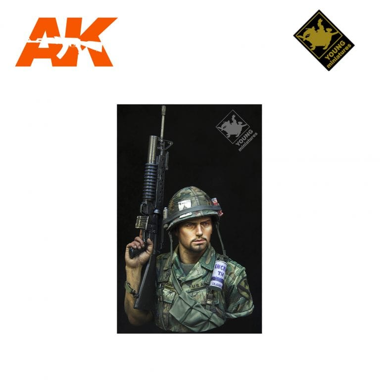 YM YM1866 US 1ST CAVALRY DIV VIETNAM 1970 AK-INTERACTIVE YOUNG MINIATURES