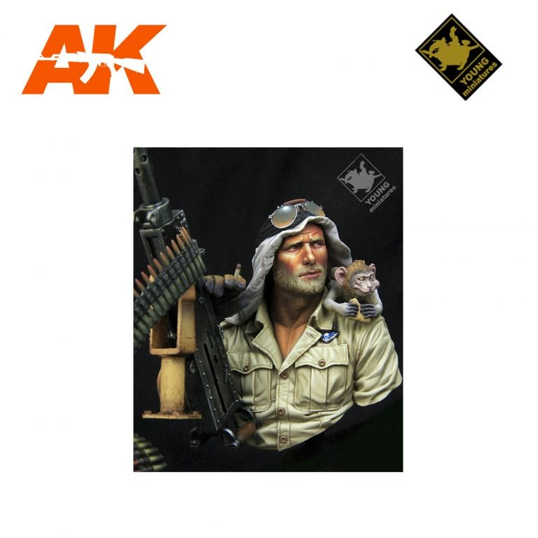 YM YM1867 BRITISH SAS JEEP GUNNER NORTH AFRICA 1941 AK-INTERACTIVE YOUNG MINIATURES