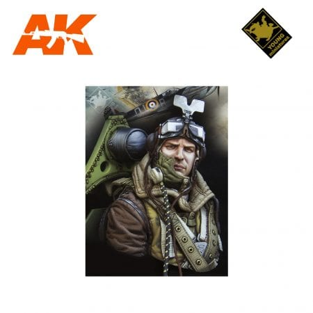 YM YM1868 RAF SPITFIRE MKI PILOT WWII AK-INTERACTIVE YOUNG MINIATURES