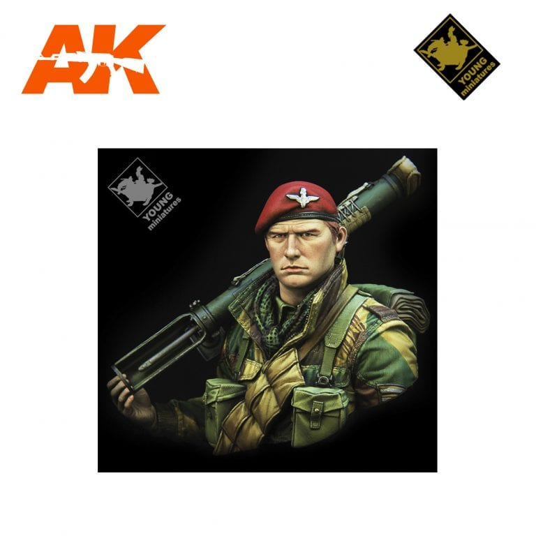 YM YM1871 BRITISH AIRBORNE WITH PIAT WWII AK-INTERACTIVE YOUNG MINIATURES