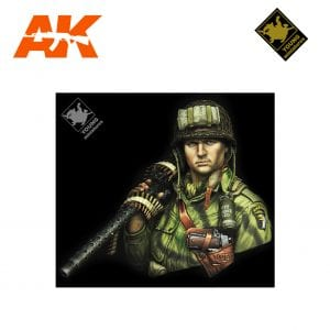 YM YM1873 WWII US AIRBORNE WITH M1919 AK-INTERACTIVE YOUNG MINIATURES