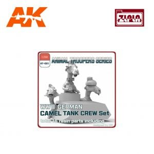 ZL AT-001 WWII GERMAN CAMEL TANK CREW SET AK-INTERACTIVE ZLPLA