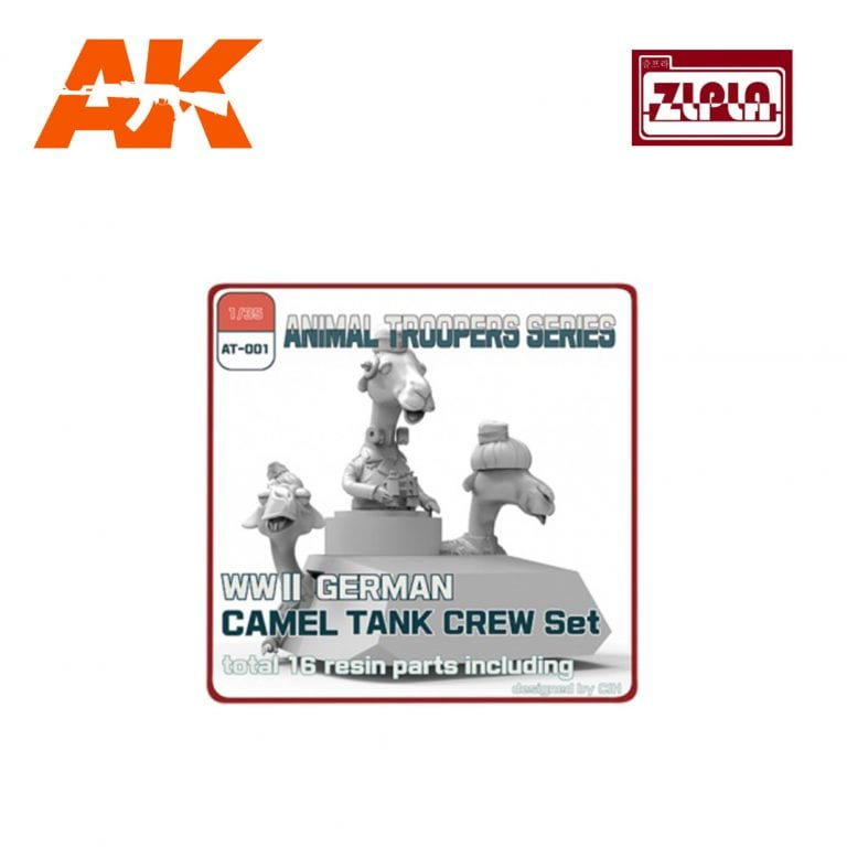 ZL AT-001 WWII GERMAN CAMEL TANK CREW SET AK-INTERACTIVE ZLPLA