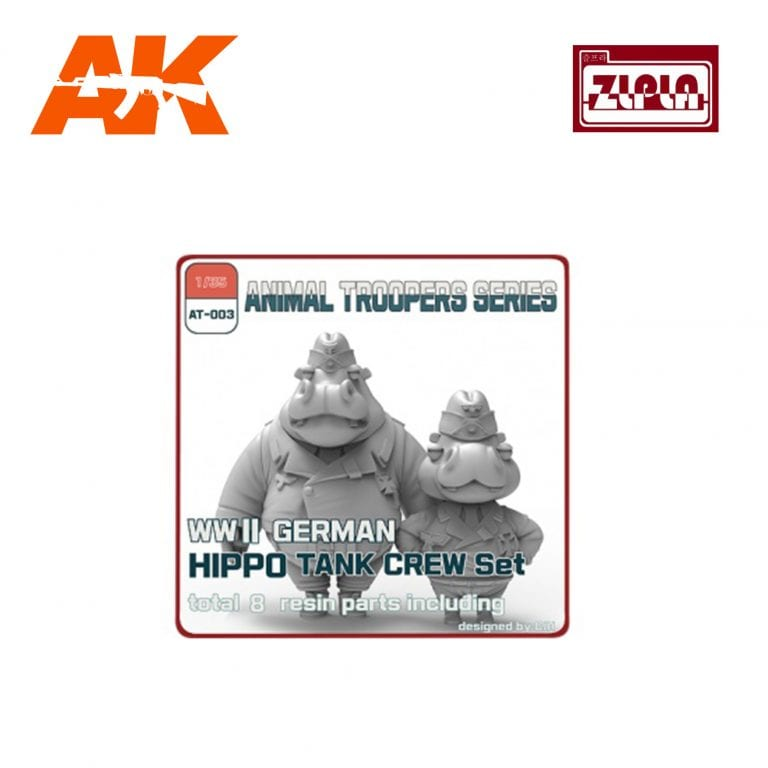 ZL AT-003 wwii german hippo tank crew set a ak-interactive zlpla