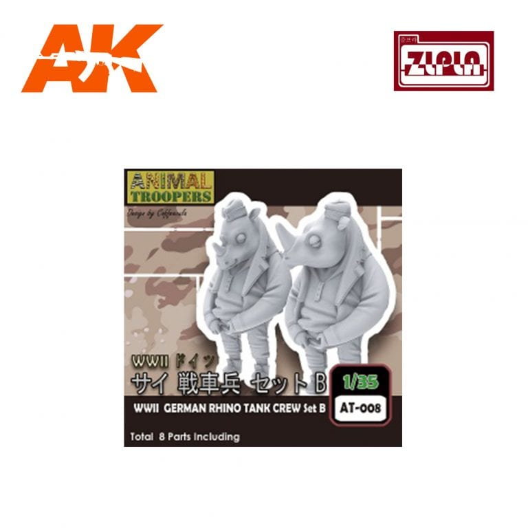 ZL AT-008 wwii german rhino tank crew set b