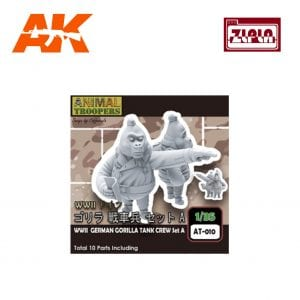 ZL AT-010 WWII GERMAN GORILLA TANK CREW SET A AK-INTERACTIVE